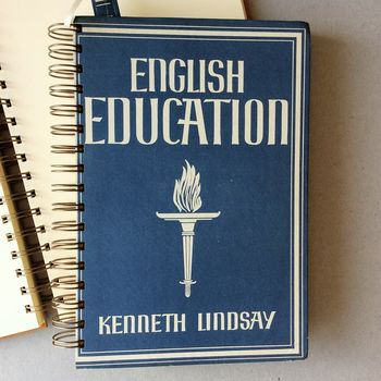 'English Education' Upcycled Notebook