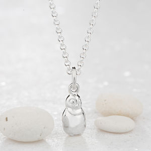 Penguin Charm Necklace With Personalised Message