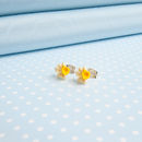Tiny Daffodil Stud Earrings