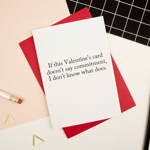 Commitment Valentine's Card - funny cards