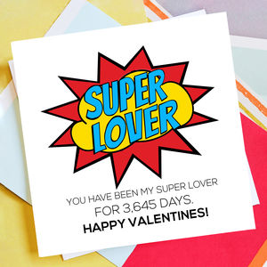 Personalised Super Lover Valentine Card