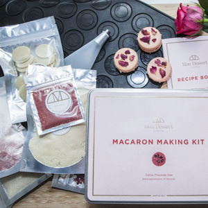 Raspberry Rose Macaron Making Kit - gifts for bakers