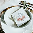 Wildflower Seed Packet Wedding Favours Peony Design