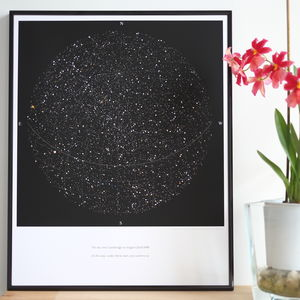 Personalised Map Of The Stars, Medium Size Print - for him
