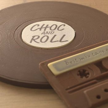 Choc And Roll Chocolate Vinyl Record And Cassette
