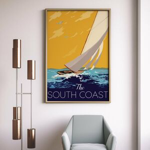 South Coast Vintage Travel Poster