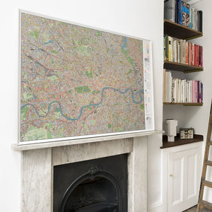 London Cycle Wall Map - home accessories