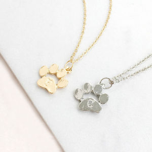 Pet Paw Print Necklace - jewellery sale