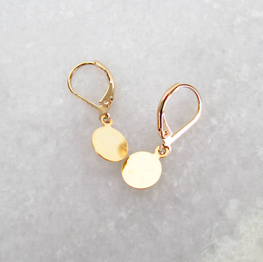 gemstone amy hammered with gold fullsizerender product disk delicate earrings