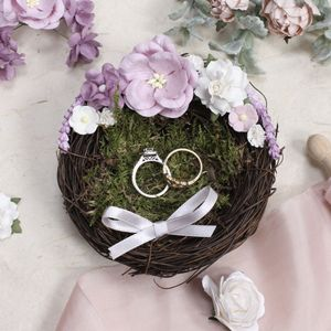 Lavender And Lilac Birds Nest Ring Holder