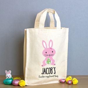 Personalised Easter Egg Hunt Mini Tote Bag - easter egg hunt