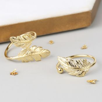 Adjustable Feather Rings