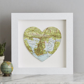 Personalised Map Location Wedding Anniversary Print
