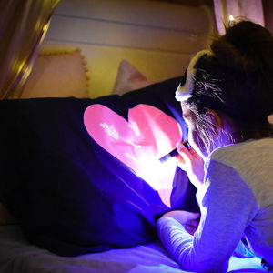 Interactive Glow In The Dark Love Heart Pillow Case