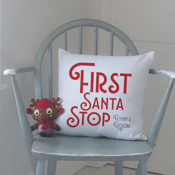 First Santa Stop Cushion