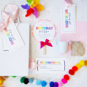 Lollipop Girls Children's Personalised Birthday Card
