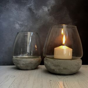 Concrete Storm Lantern - lights & lanterns
