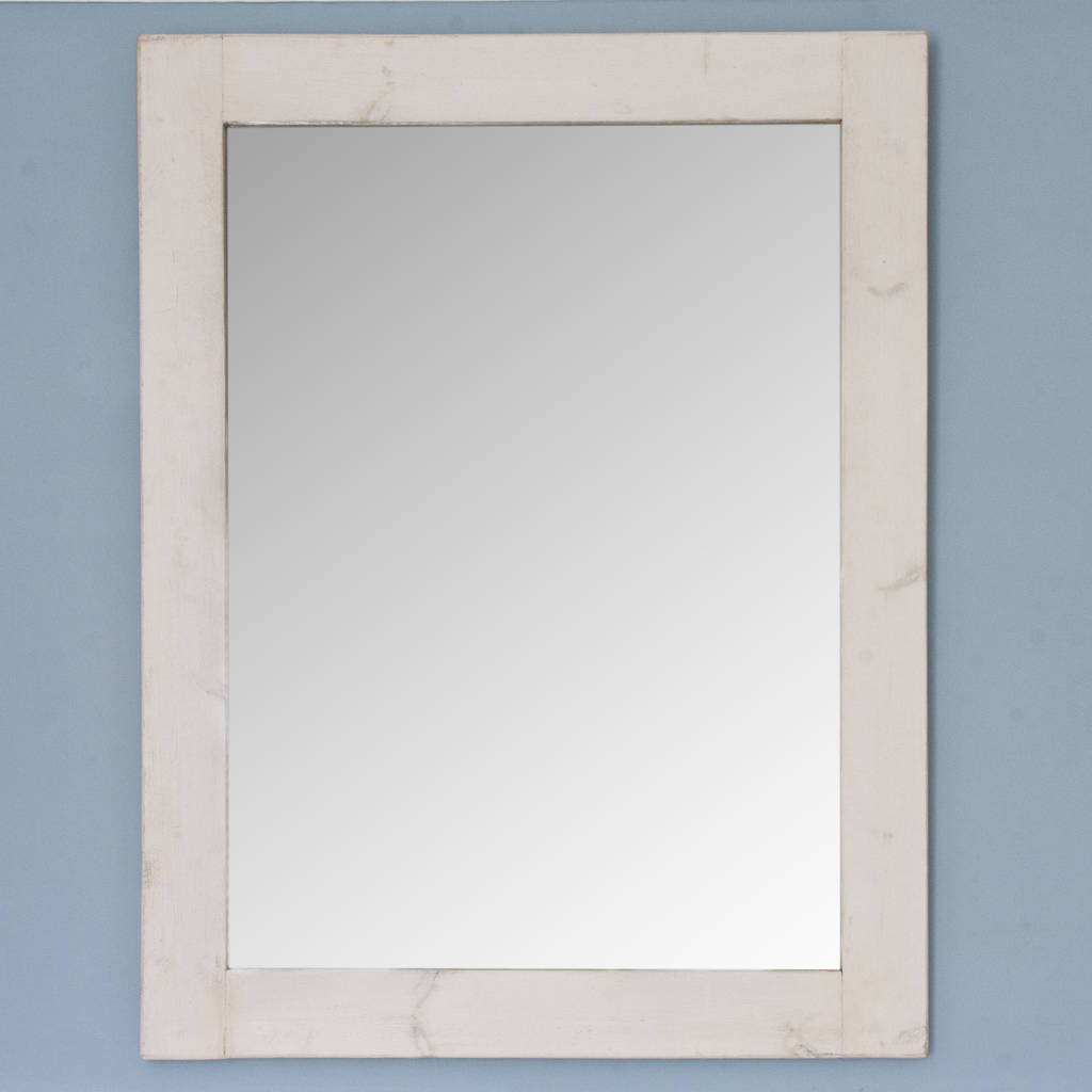 altan small wooden framed mirror in dark/ white wood by decorative