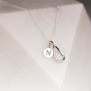Personalised Sparkly Infinity Charm Pendant