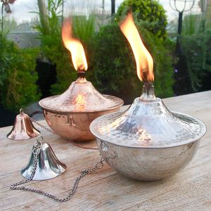 Copper Or Steel Garden Torch Tabletop Or Pole Mounted - outdoor lighting & candles