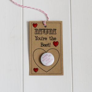 Handmade 'You're the Best' Gift Tag With Badge - finishing touches