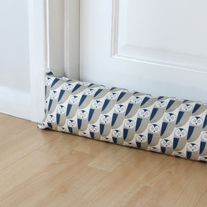 Owl Print Draught Excluder - door stops & draught excluders