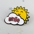 Sunshine Smile Enamel Pin Badge