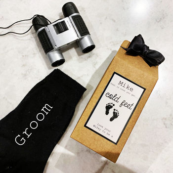 Box Of Socks Gift For Groom