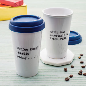 Personalised 'Until It's Acceptable' Travel Mug - mother's day gifts