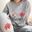 Embroidered Chrysanthemum Floral Lounge Set