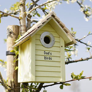 Personalised Wooden Bird Box - gifts for mothers
