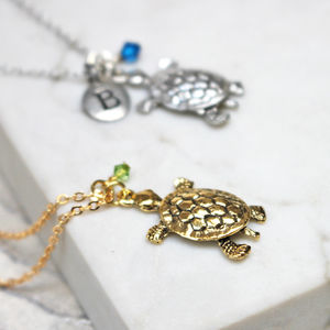 Turtle Charm Necklace - jewellery sale