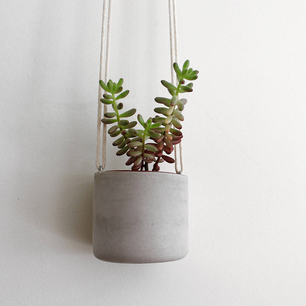 Concrete Hanging Planter By Make Amp Matter