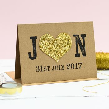 Personalised Wedding Date Card