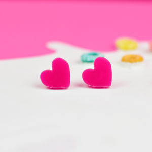 Colourful Love Heart Earrings