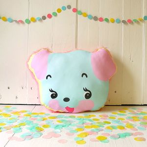 Cute Puppy Novelty Faux Fur Cushion