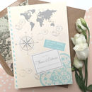 Love Travel Wedding Invitation - Front