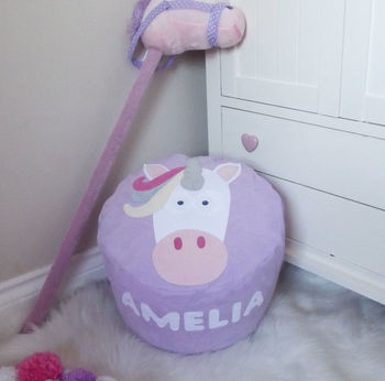 Unicorn Character Personalised Bean Bag