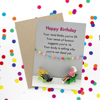 Birthday Thoughts Funny Card