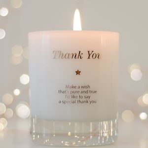 Make A Wish To Say Thank You Candle - thank you gifts