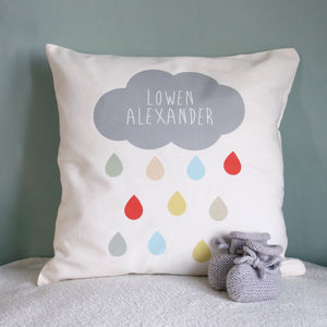 Personalised Cloud Name Cushion - gifts for babies