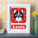 Personalised Boston Terrier Clock