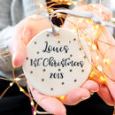 Personalised Baby's First Christmas Script Decoration