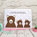 Mummy Bear Mother's Day Card, large A5 size, supplied with a pink envelope