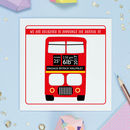 Red Bus New Baby Announcement Cards