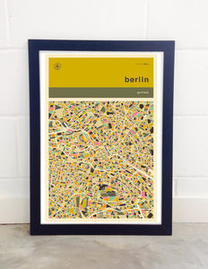 Berlin Street Guide Graphic Book Cover Print