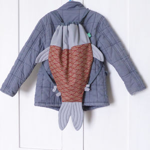 Fish Shaped Drawstring Bag