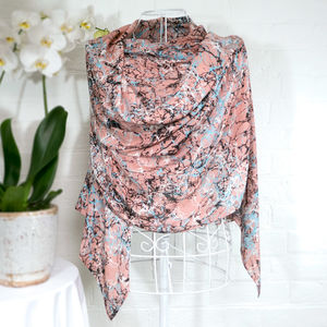 'Throwing Stones' Large Luxury Scarf Wrap