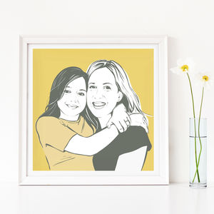 Personalised Custom Family Portrait Print - personalised