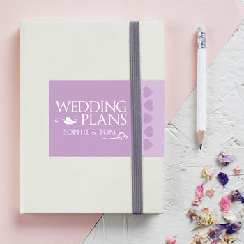 Personalised Engagement Wedding Notebook